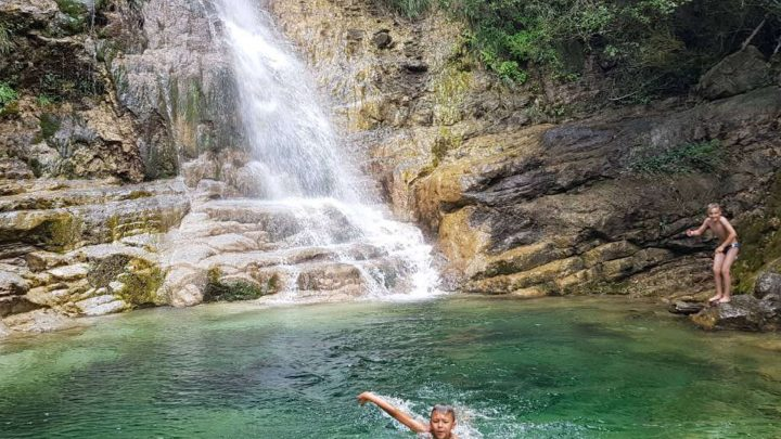 Awesome River Trekking Orlias & Red Rock Waterfall