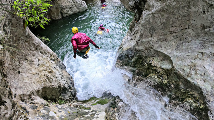 Canyoning at Havos Gorge, Central Evia